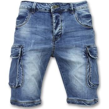 textil Herr Shorts / Bermudas Enos Korta Jeansshorts Halvlånga Shorts J Blå