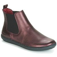 Skor Dam Boots Kickers FANTIN Violett