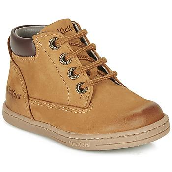 Skor Pojkar Boots Kickers TACKLAND Kamel / Brun