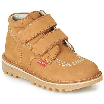 Skor Pojkar Boots Kickers NEOVELCRO Kamel