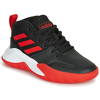 Skor Barn Basketskor adidas Performance OWNTHEGAME K WIDE Svart / Röd