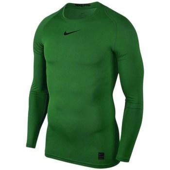textil Herr Långärmade T-shirts Nike Pro Top Compression Gröna