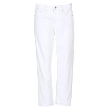 textil Dam Jeans boyfriend G-Star Raw 3301 MID BOYFRIEND 7/8 Vit
