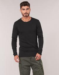textil Herr Långärmade T-shirts G-Star Raw BASE TEE Svart