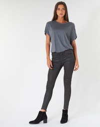 textil Dam Skinny Jeans G-Star Raw ASHTIX ZIP HIGH SUPER SKINNY ANKLE WMN Svart