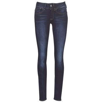 textil Dam Skinny Jeans G-Star Raw LYNN MID SKINNY WMN Blå / Blå