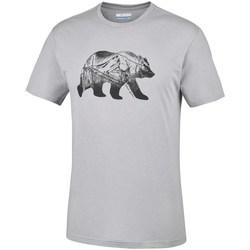 textil Herr T-shirts Columbia Baker Brook Gråa