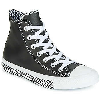Skor Dam Höga sneakers Converse CHUCK TAYLOR ALL STAR VLTG LEATHER HI Svart