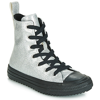 Skor Flickor Höga sneakers Converse CHUCK TAYLOR ALL STAR BOOT COATED GLITTER  HI Silver
