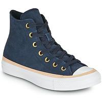 Skor Dam Höga sneakers Converse CHUCK TAYLOR ALL STAR VACHETTA LEATHER HI Marin
