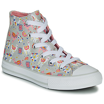 Skor Flickor Höga sneakers Converse CHUCK TAYLOR ALL STAR LLAMA HI Grå / Flerfärgad