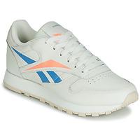 Skor Dam Sneakers Reebok Classic CL LTHR Beige / Blå / Orange