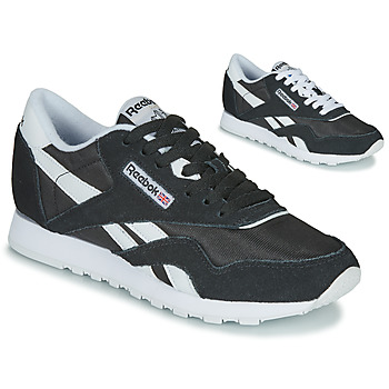 Skor Dam Sneakers Reebok Classic CL NYLON Svart / Vit