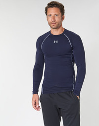 textil Herr Långärmade T-shirts Under Armour HEATGEAR ARMOUR LS COMPRESSION Marin