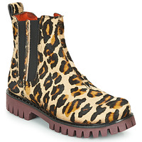 Skor Dam Boots Papucei PORTO ANIMAL PRINT Leopard