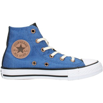 Skor Barn Höga sneakers Converse 6599 Black and white blue