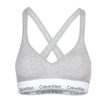 Underkläder  Dam Bh Calvin Klein Jeans MODERN COTTON BRALETTE LIFT Grå