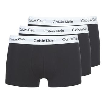 Underkläder  Herr Boxershorts Calvin Klein Jeans COTTON STRECH LOW RISE TRUNK X 3 Svart