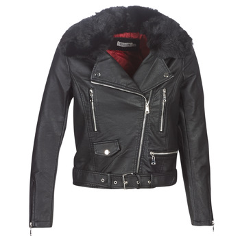 textil Dam Skinnjackor & Jackor i fuskläder Molly Bracken HA006A21 Svart