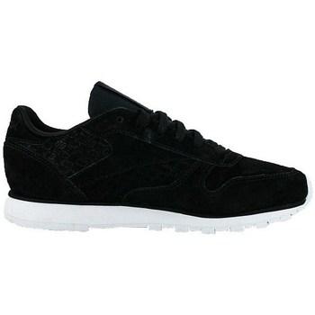 Skor Dam Sneakers Reebok Sport Classic Leather Woven Emb Vit, Svarta