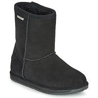 Skor Flickor Boots EMU BRUMBY LO WATERPROOF Svart
