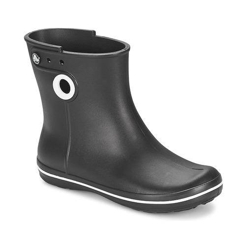 Skor Dam Gummistövlar Crocs JAUNT SHORTY BOOT W-BLACK Svart