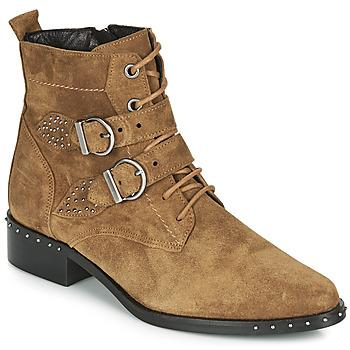 Skor Dam Boots Philippe Morvan SWAG V4 CRTE VEL Kamel