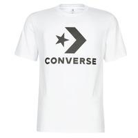 textil Herr T-shirts Converse STAR CHEVRON Vit