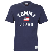 textil Herr T-shirts Tommy Jeans TJM USA FLAG TEE Marin