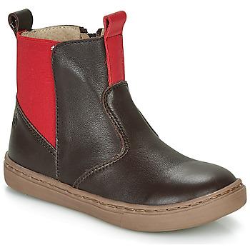 Skor Pojkar Boots Citrouille et Compagnie JRYNE Brun / Röd