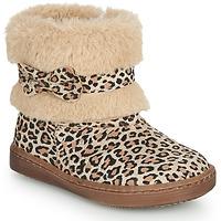 Skor Flickor Boots Citrouille et Compagnie LILIFA Kamel / Leopard
