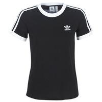 textil Dam T-shirts adidas Originals 3 STR TEE Svart