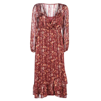 textil Dam Långklänningar Cream NILA Röd