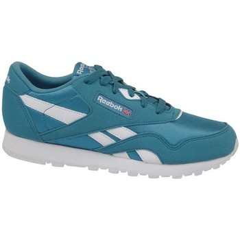 Skor Barn Sneakers Reebok Sport CL Nylon MU Vit, Gröna