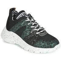 Skor Dam Sneakers Meline LETTE Svart / Grön