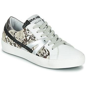 Skor Dam Sneakers Meline PANNA Vit / Ormfärgad