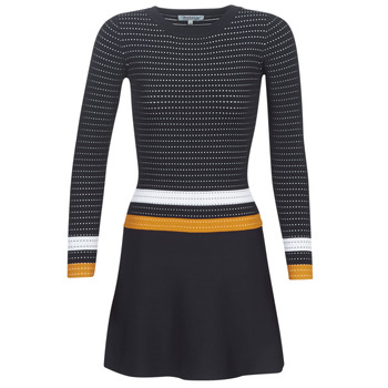 textil Dam Korta klänningar Morgan ROXFA Marin / Vit / Gul