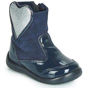Skor Flickor Boots Gioseppo BUCKLAND Marin / Silver