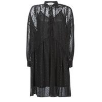 textil Dam Korta klänningar Replay W9525-000-83494-098 Svart