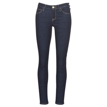 textil Dam Skinny Jeans Lee SCARLETT RINSE Blå