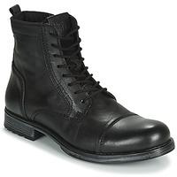Skor Herr Boots Jack & Jones JFW RUSSEL LEATHER Svart