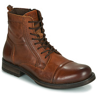 Skor Herr Boots Jack & Jones JFW RUSSEL LEATHER Cognac