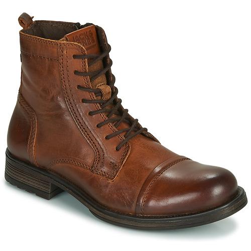 Skor Herr Boots Jack & Jones JFW RUSSEL LEATHER Cognac