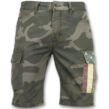 textil Herr Shorts / Bermudas Enos Shorts Shorts Många Fickor J Grön
