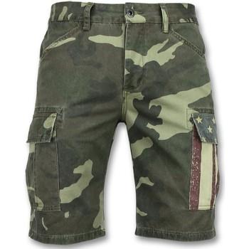 textil Herr Shorts / Bermudas Enos Camouflage Kortbyxor Shorts J Grön