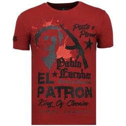 textil Herr T-shirts Local Fanatic El Patron Pablo Rhinestone B Bordeaux