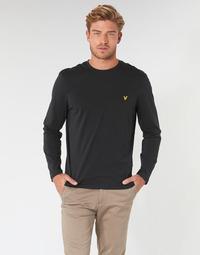 textil Herr Långärmade T-shirts Lyle & Scott TS512V-574 Svart