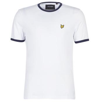 textil Herr T-shirts Lyle & Scott TS705V-Z660 Vit