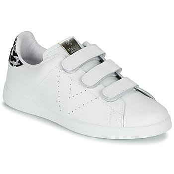 Skor Dam Sneakers Victoria TENIS VELCRO PIEL Vit