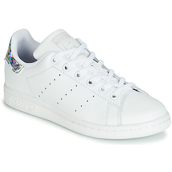 Skor Flickor Sneakers adidas Originals STAN SMITH J Vit / Silver